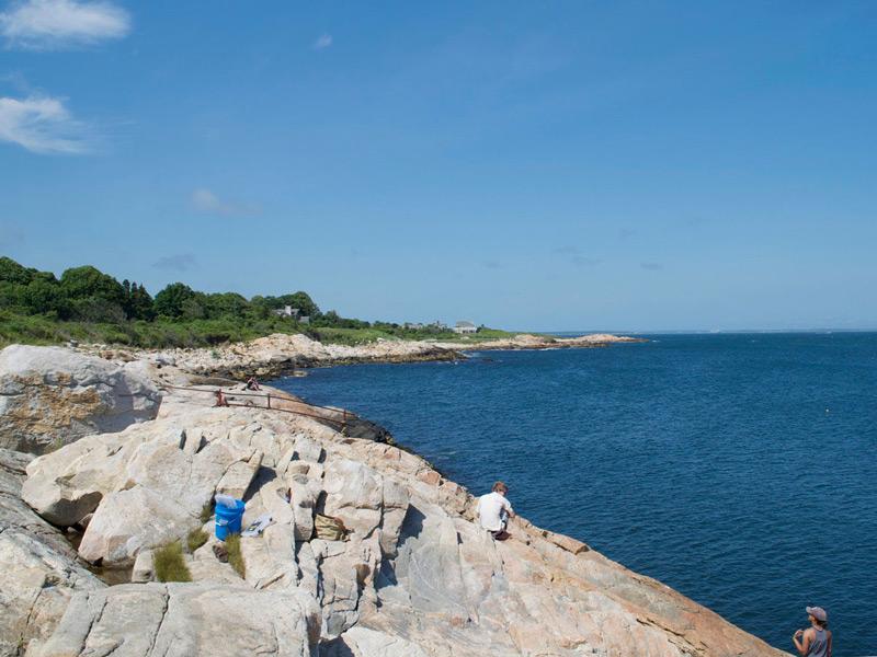 Scarborough Beach Rhode Island High Tide
